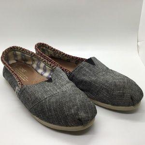 Women's Dark Gray Fabric Toms